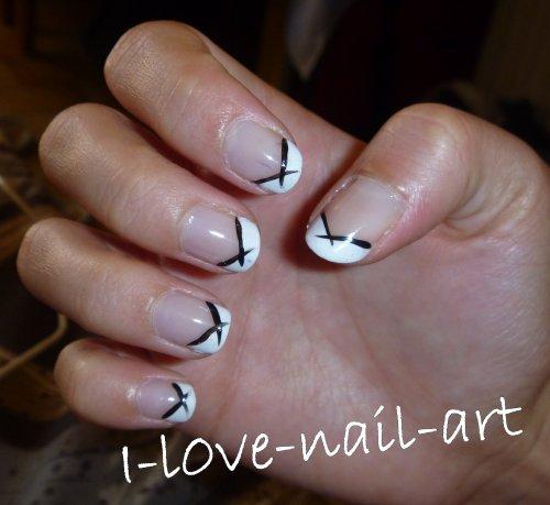 French noir et blanc blog de i l0ve nail art - French manucure noir ...